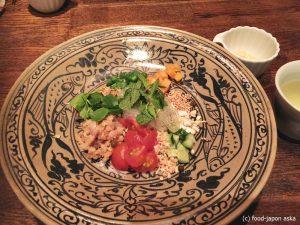 「海月が雲になる日」料理がパワーアップしてた。タイ料理と和の融合。空間とも呼応する不思議料理!コースのみの新形態です。