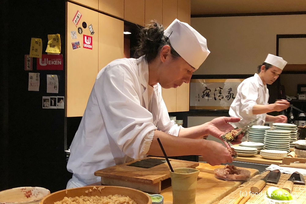 「鮨人」破竹の勢い富山異色のすし店!店主の哲学はハマったら抜け出せない!珠玉ネタと赤酢シャリ。のど黒オス・メス食べ比べも