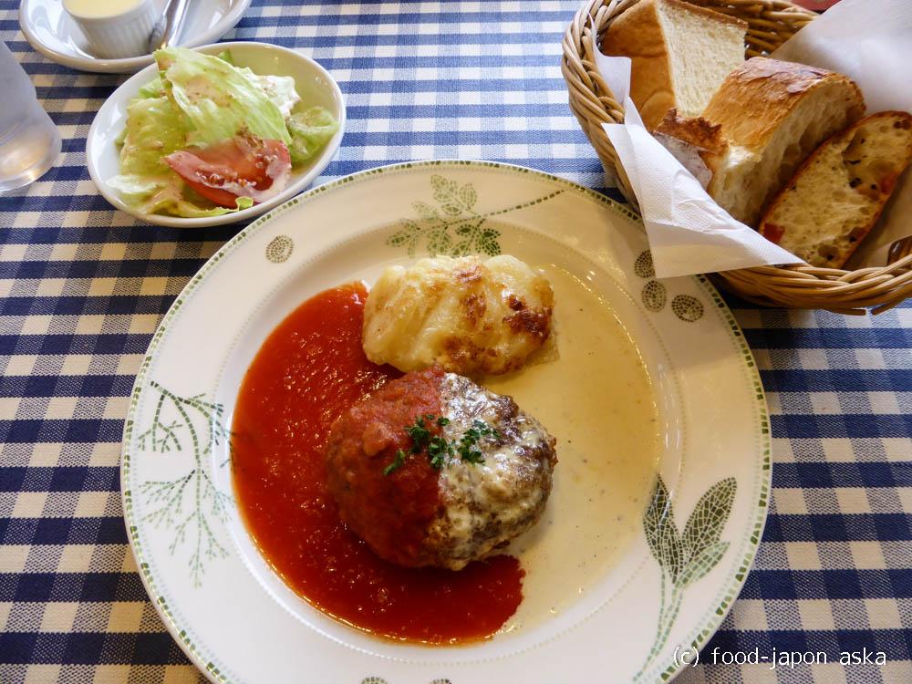 「キャセロール」おいしいハンバーグは高岡にあり!クリーミーなマスタードソースがオススメ~初めてなら2色がけもいいね!