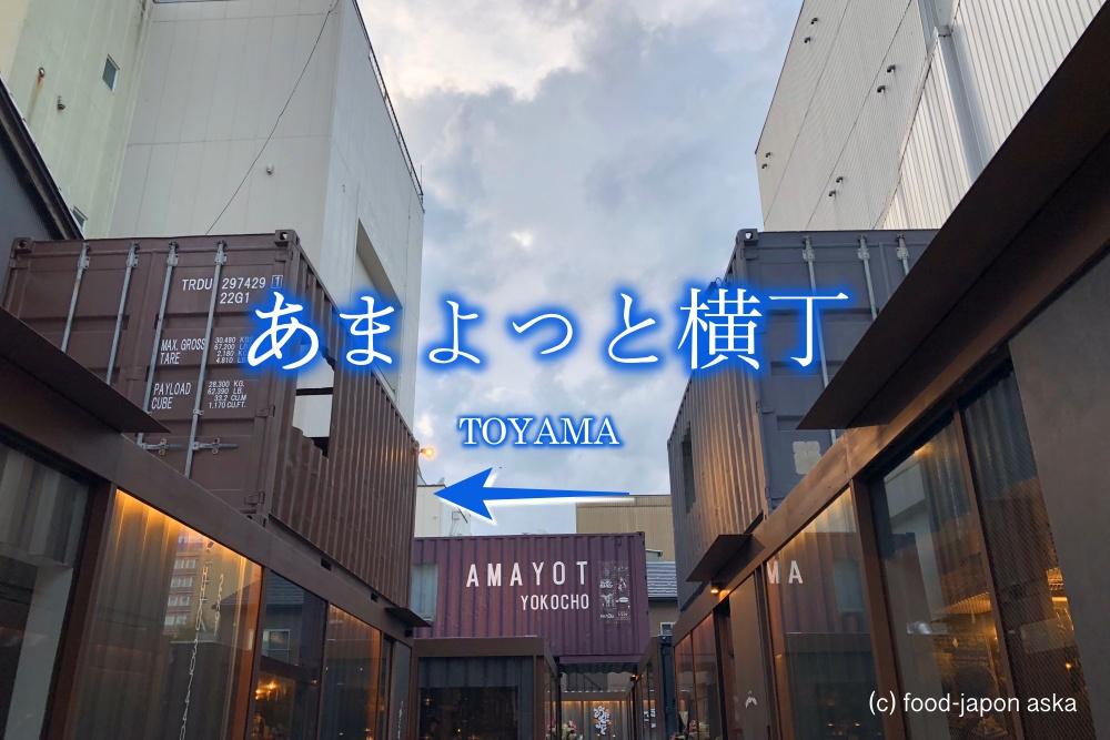 「あまよっと横丁」激アツ酒場街が富山中心部に登場!コンテナを利用したちょい飲みおしゃれスポット!ショーグンホルモンも入ってます。