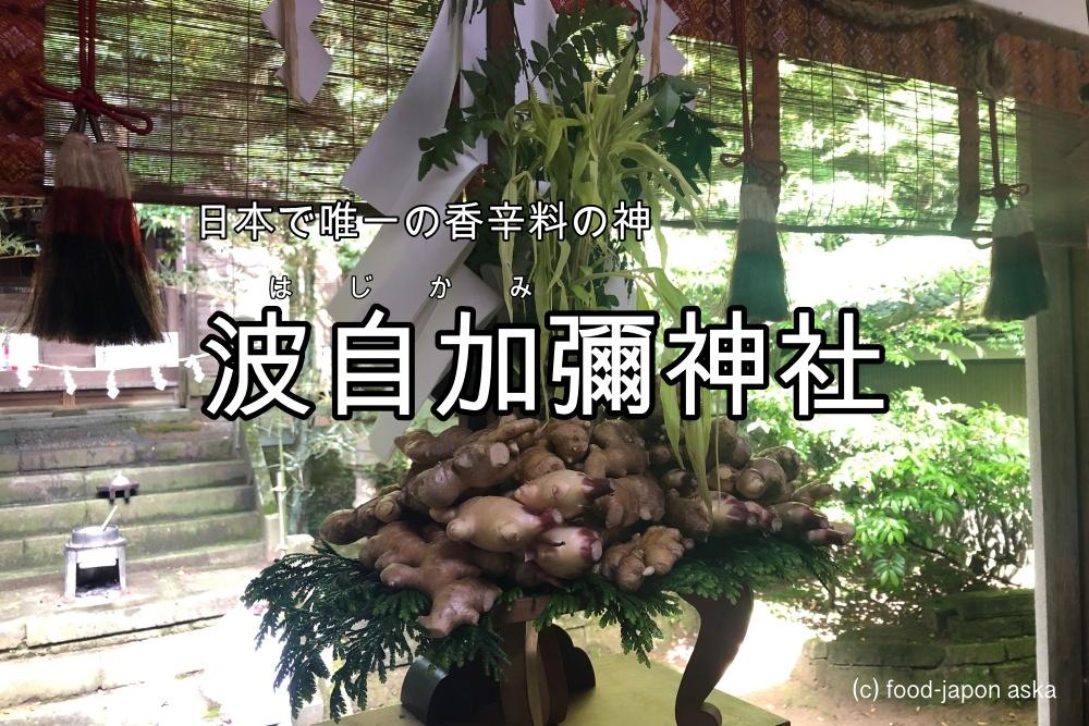 「はじかみ大祭」日本で唯一!香辛料の神様をお祀りする波自加彌神社。年に一度の珍しいお祭が毎年6月15日に。全国から奉納生姜が。オリジナル御朱印帳が可愛い!
